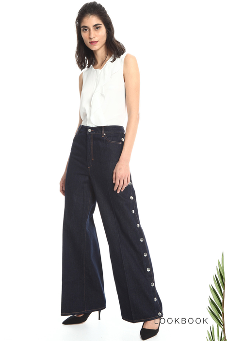 Denim palazzo trousers Intrend