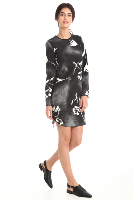 Dress in printed cady Intrend