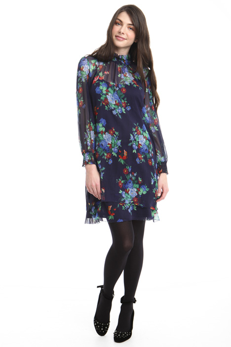 Floral-printed crepon dress Intrend
