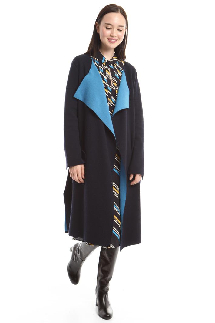 Capospalla in maglia bicolor Intrend