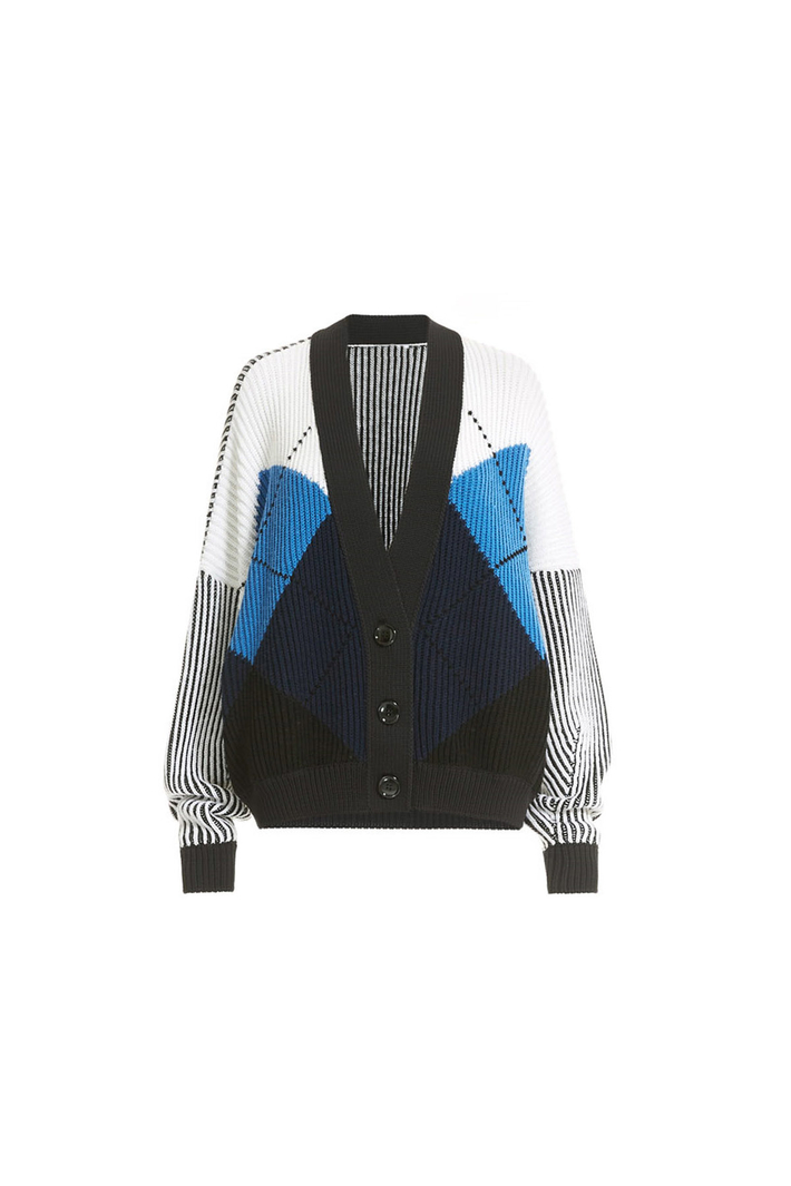 Boxy-fit ribbed cardigan Intrend