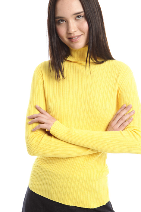 Rib worked turtleneck sweater Intrend