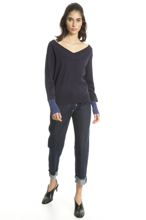 Asymmetrical viscose sweater Intrend