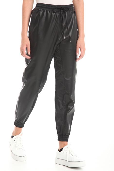 Bi-material jogging trousers  Intrend
