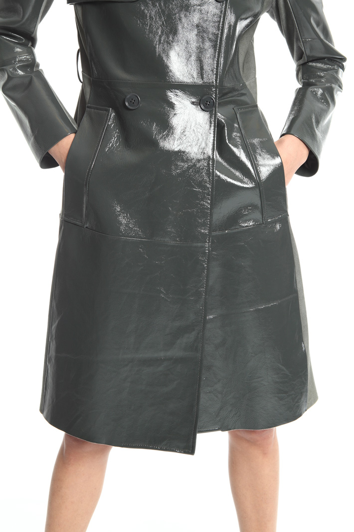 Long leather jacket Intrend