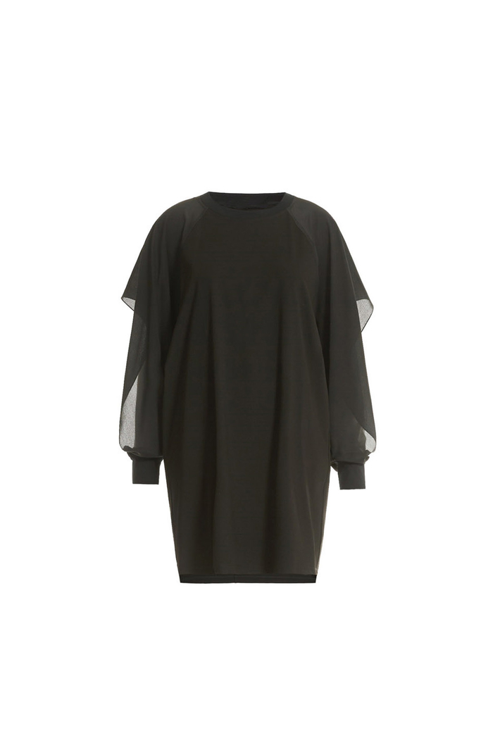 Flounced sleeve dress Intrend