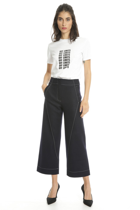 Cropped trousers in wool Intrend