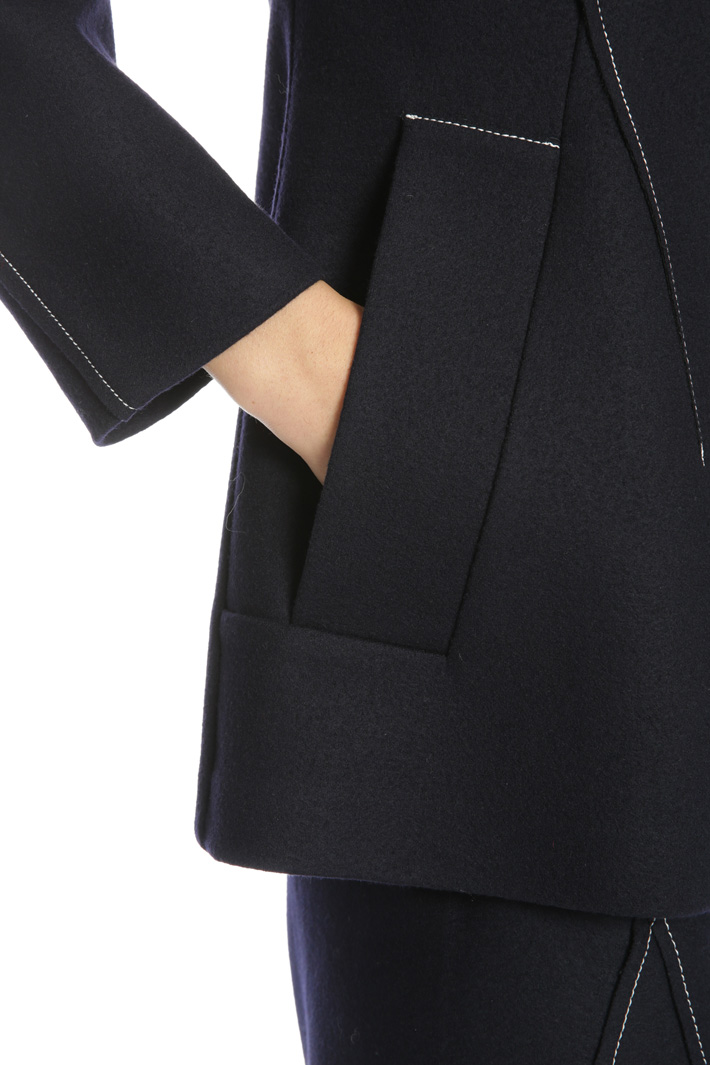 Wool jersey jacket Intrend