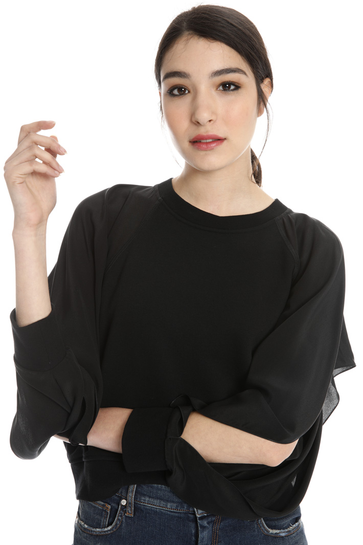 Silk sleeve sweatshirt Intrend