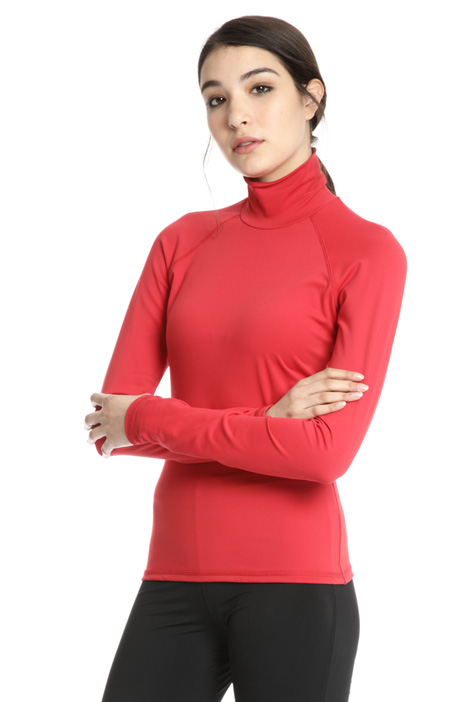 Fitted turtleneck top Intrend