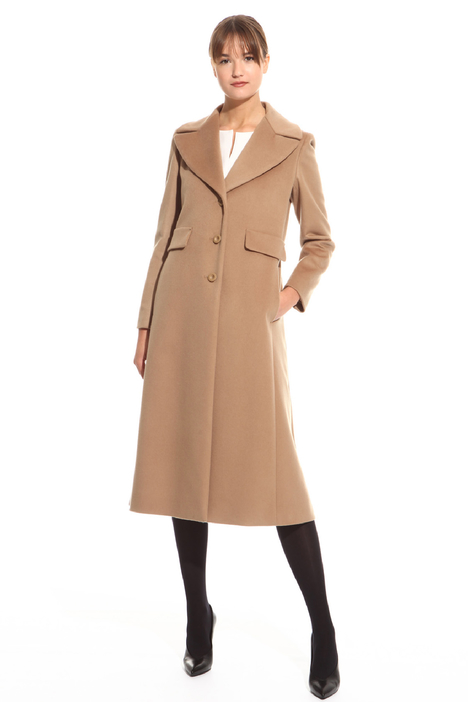 Long coat with step lapel Intrend