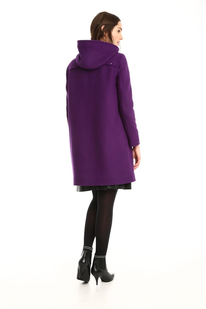 Cappotto in lana con cappuccio Intrend