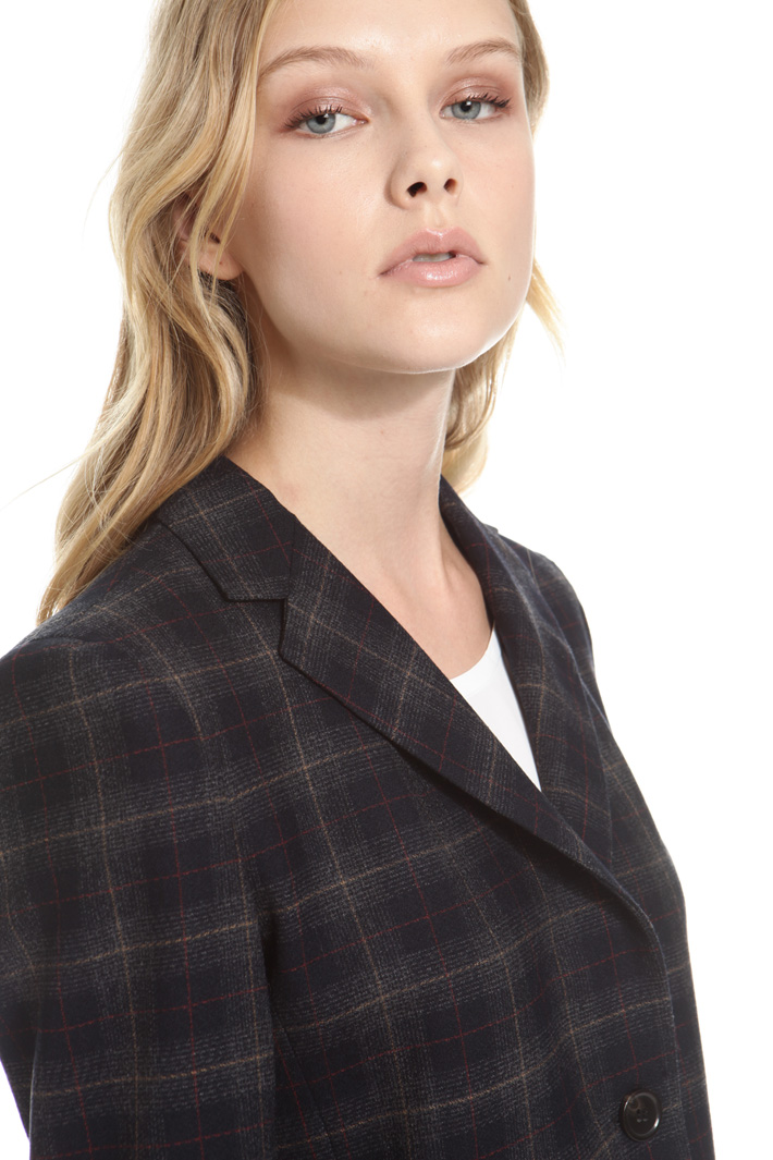 Checked wool jacket Intrend