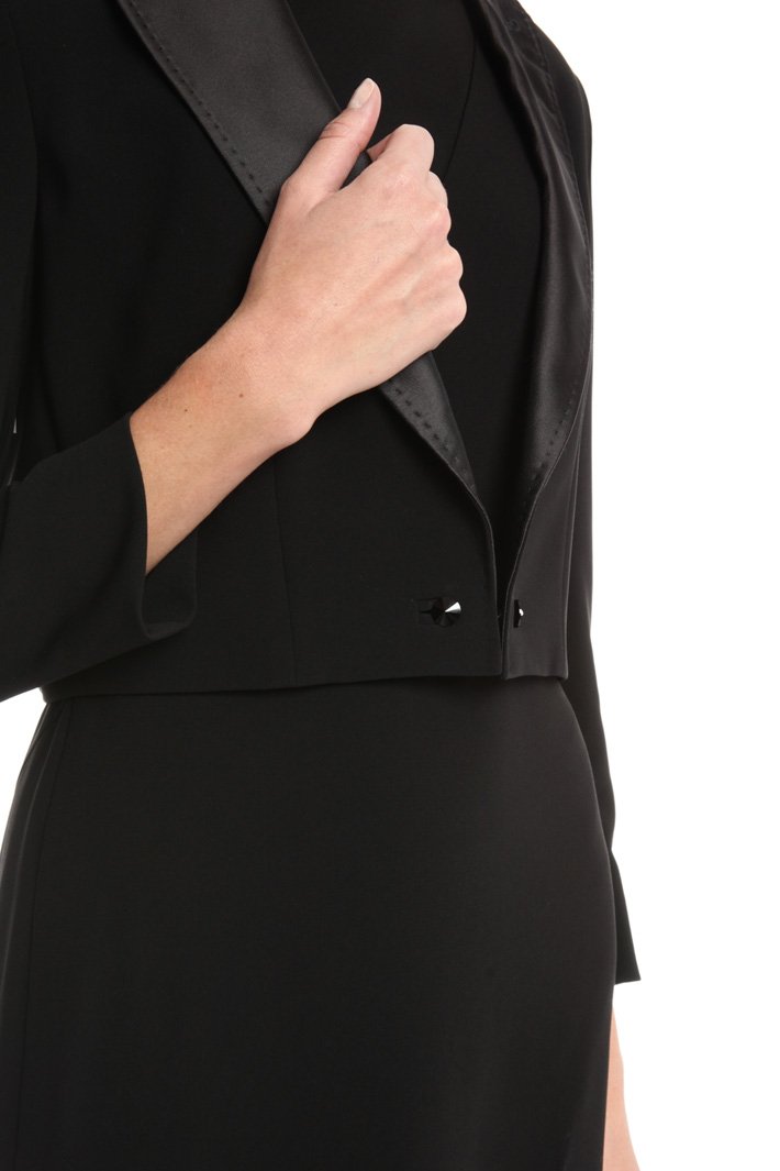 Boxy jacket in heavy cady Intrend