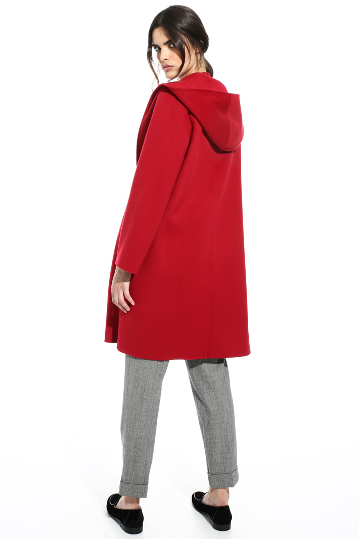 Drap coat with hood Intrend