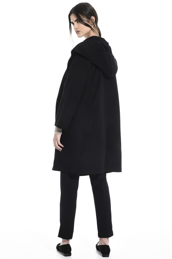 Drap coat with hood Intrend
