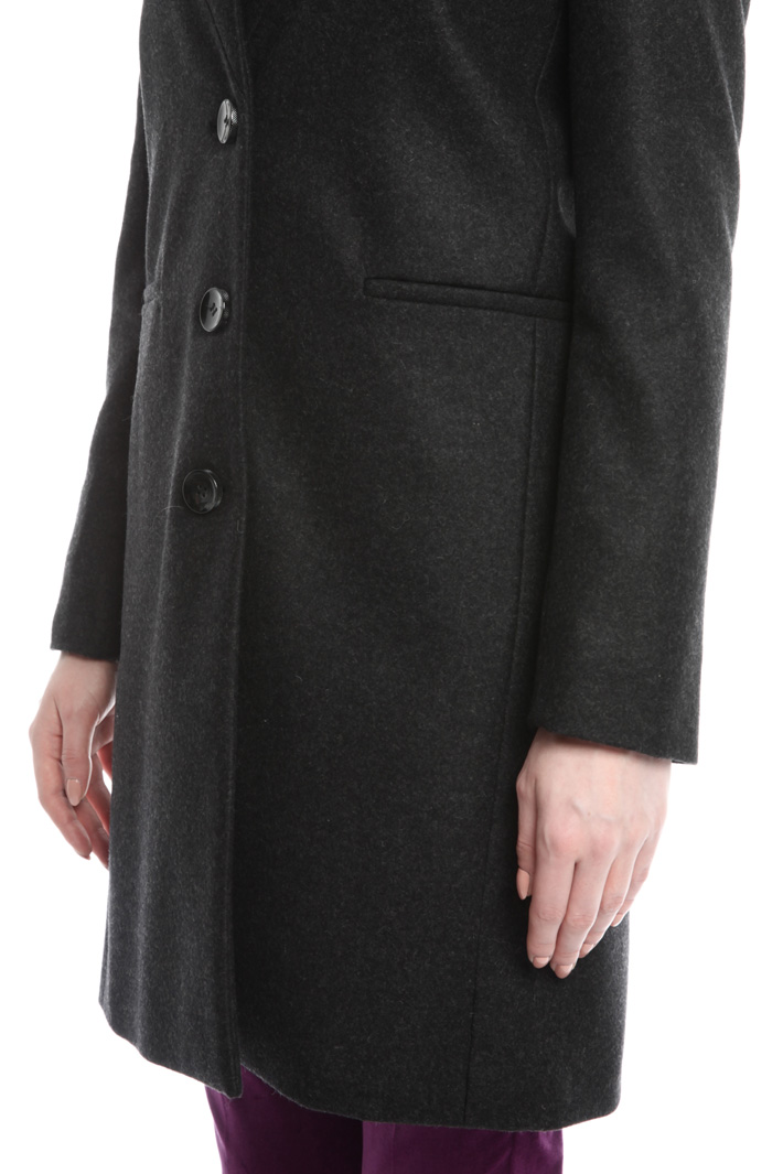 Felted wool-blend coat Intrend