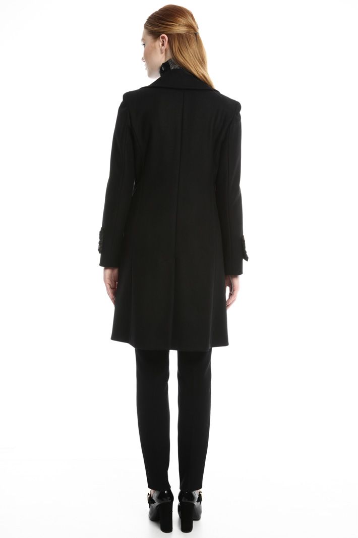 Embroidered cuff coat Intrend