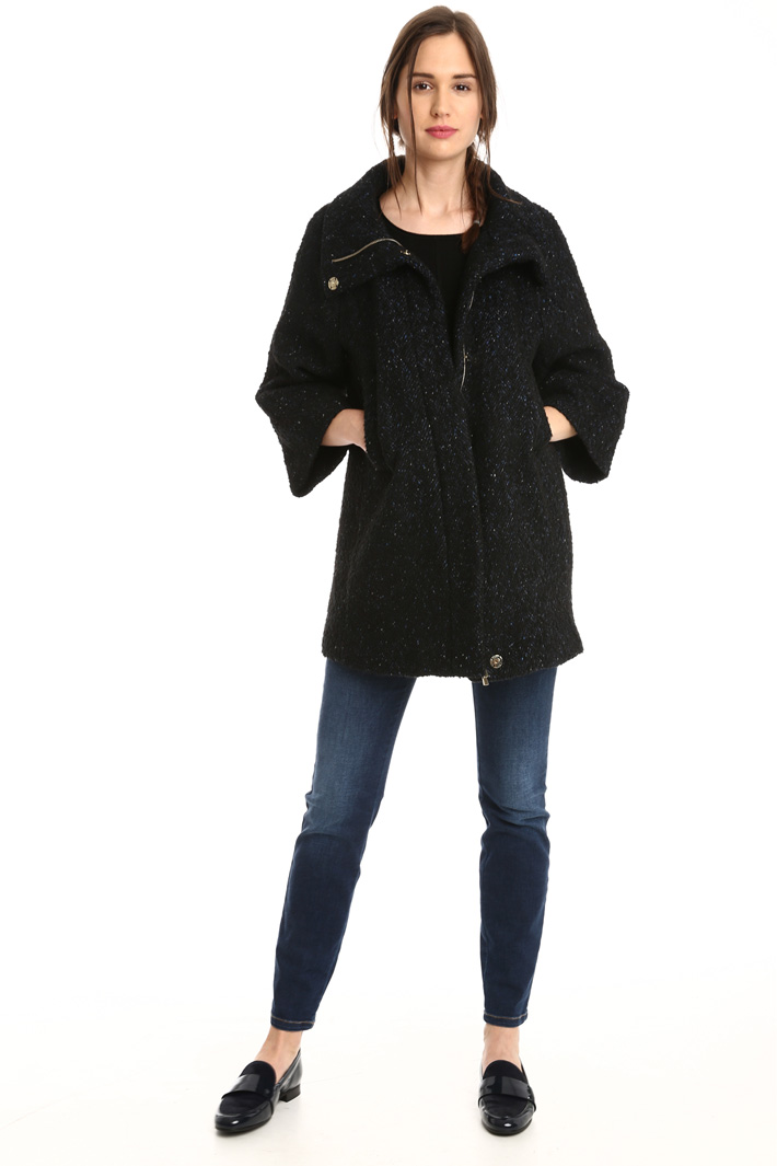 Cappa in tweed di lana Intrend