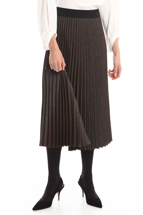 Mouliné fabric skirt Intrend