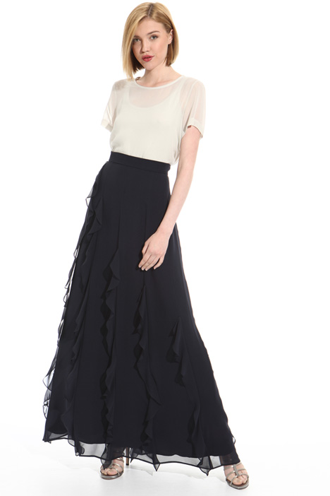 Long pure silk skirt Intrend