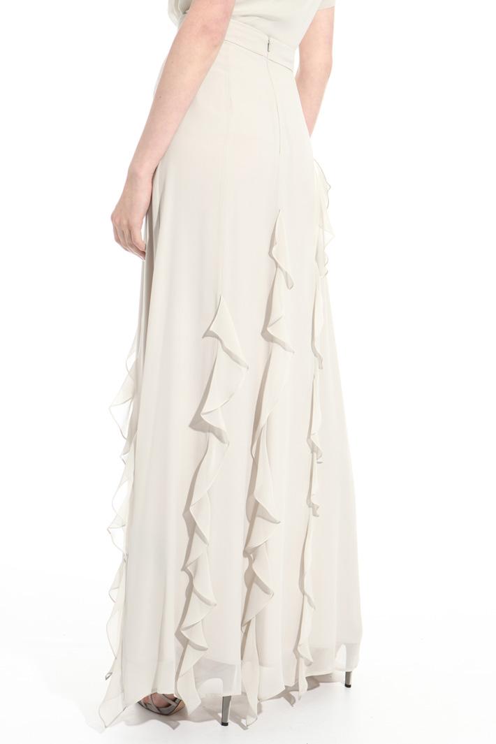 Long pure silk skirt Intrend