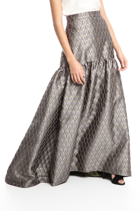 Long lurex jacquard skirt Intrend