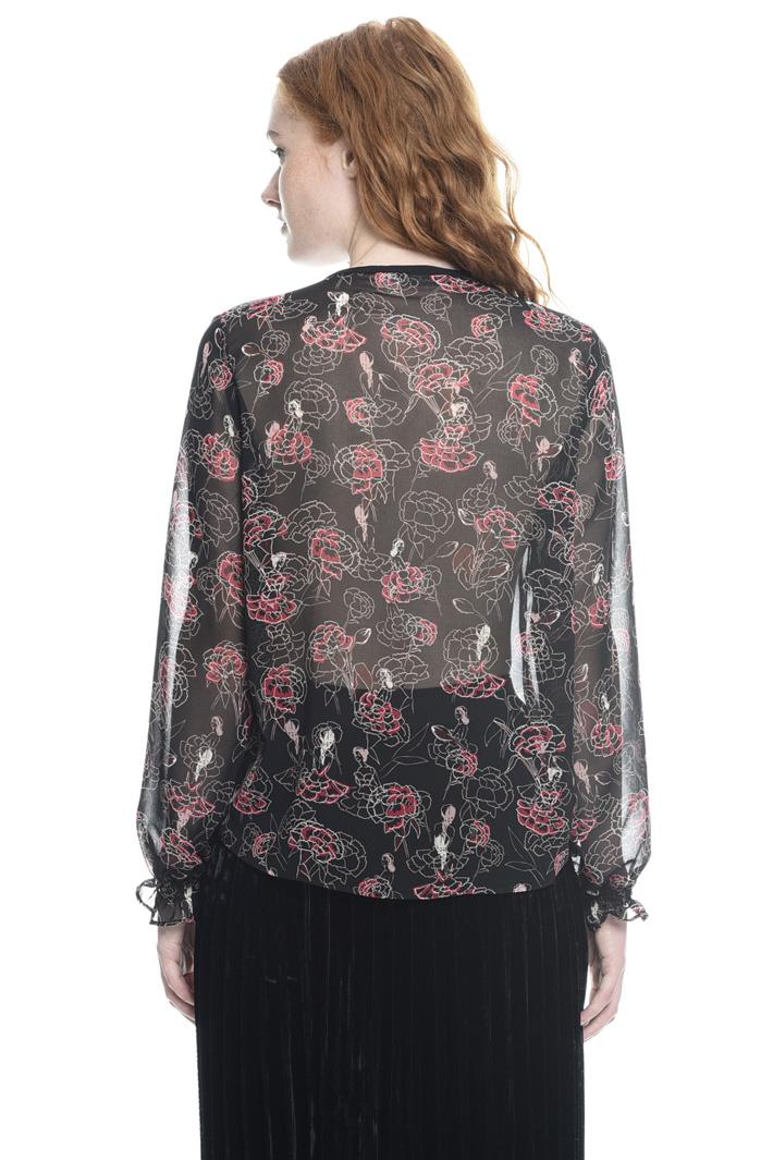 Camicia in georgette stampata Intrend