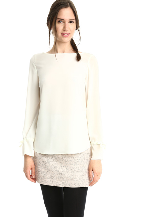 Blusa fluida in crepe Intrend