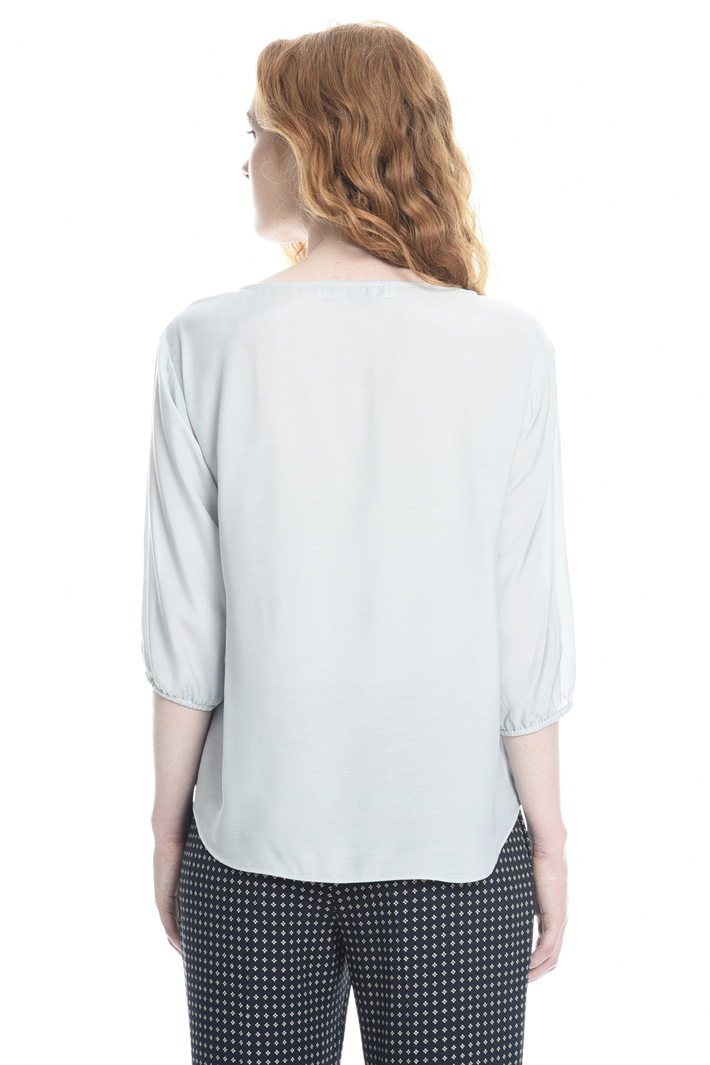 Blusa in voile con ruches Intrend
