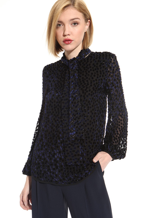 Fil coupé silk blouse Intrend