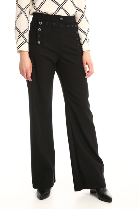 Buttoned palazzo trousers Intrend