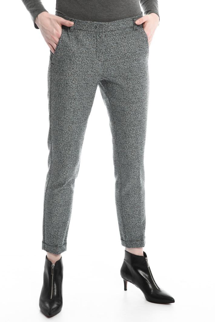 Pantalone in jacquard stretch Intrend