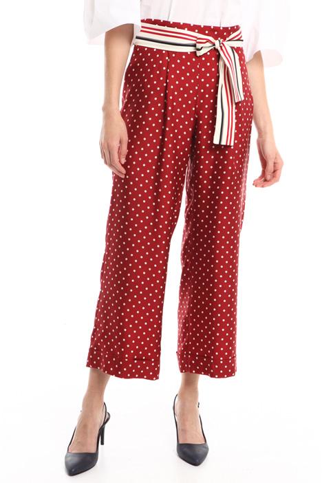 Pantalone in twill di seta Intrend