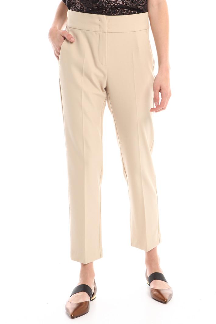 Pantaloni in crepe stretch Intrend