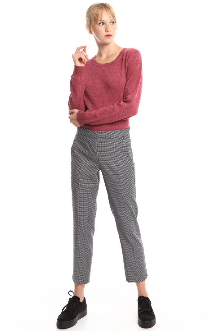 Pantalone in lana jacquard Intrend