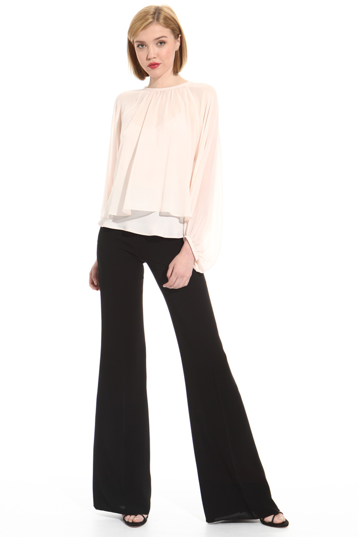 Long triacetate trousers Intrend