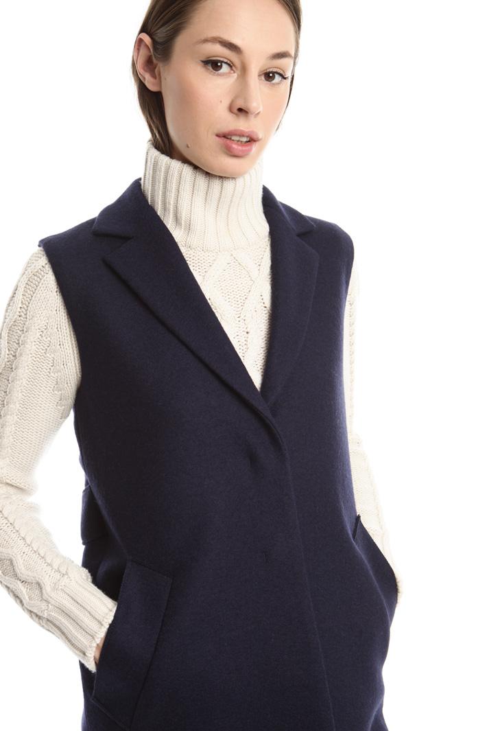 Gilet in feltro di lana Intrend