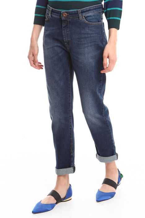 Turn-up cigarette jeans  Intrend