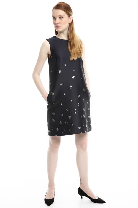 Lurex floral dress Intrend