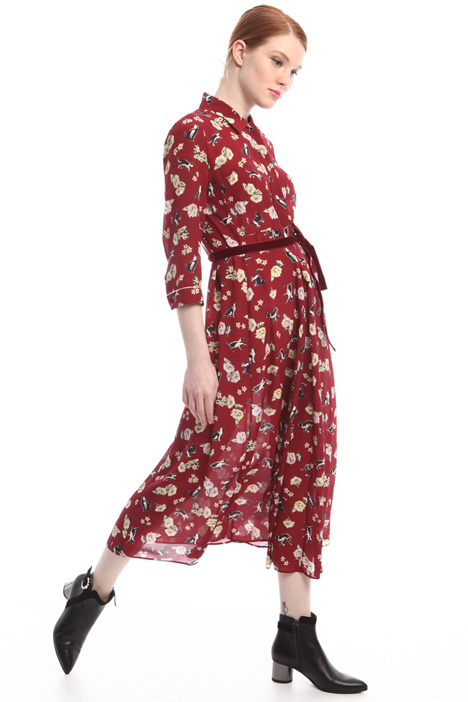 Long pure silk dress Intrend