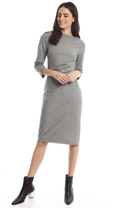 Flannel sheath dress Intrend