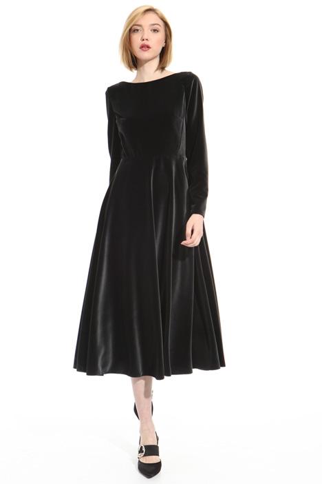 Velvet midi dress Intrend