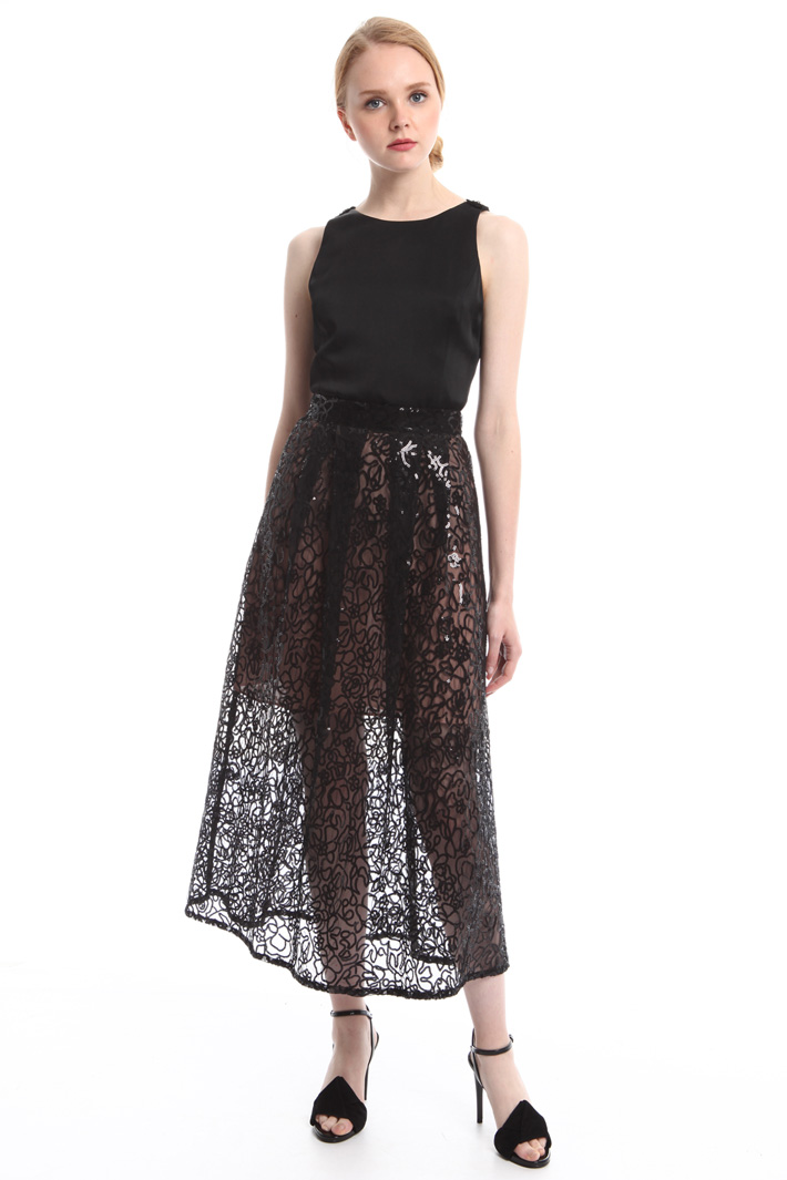 Gonna in tulle e paillettes Intrend