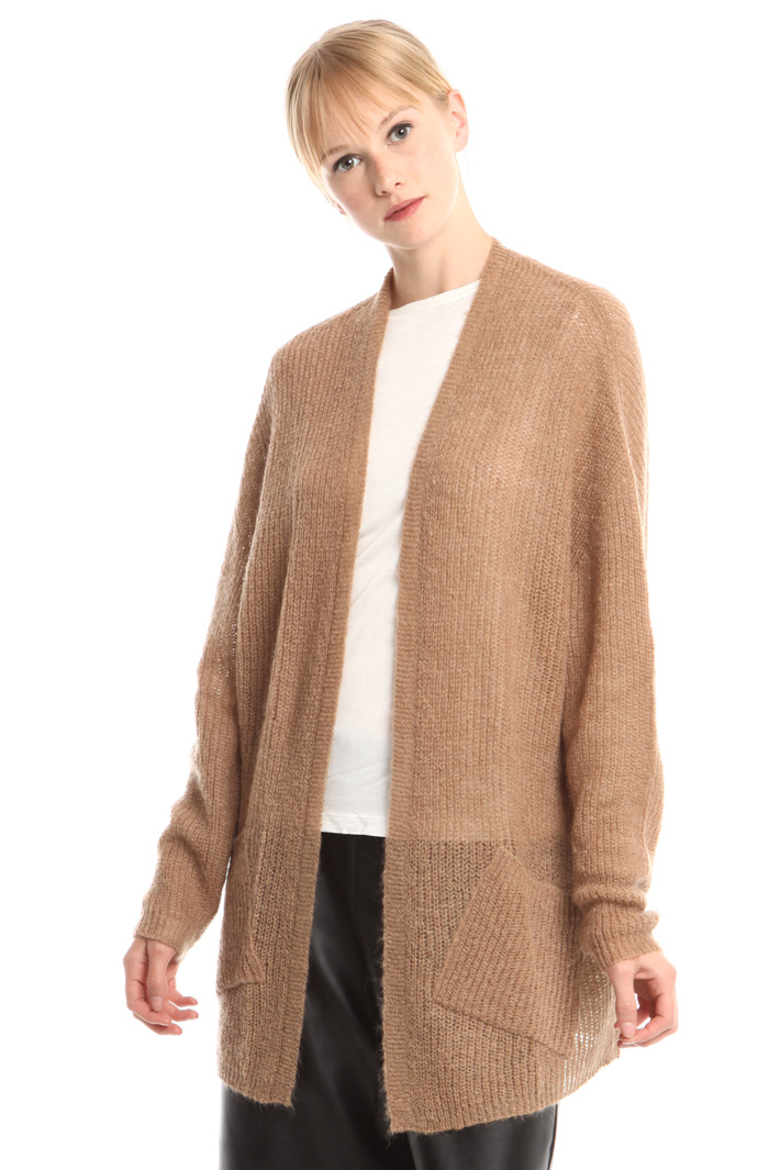 Open-front mohair cardigan Intrend