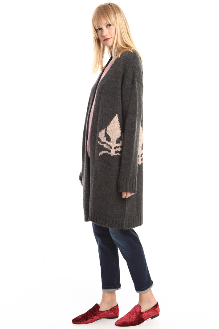 Cardigan lungo in lana Intrend