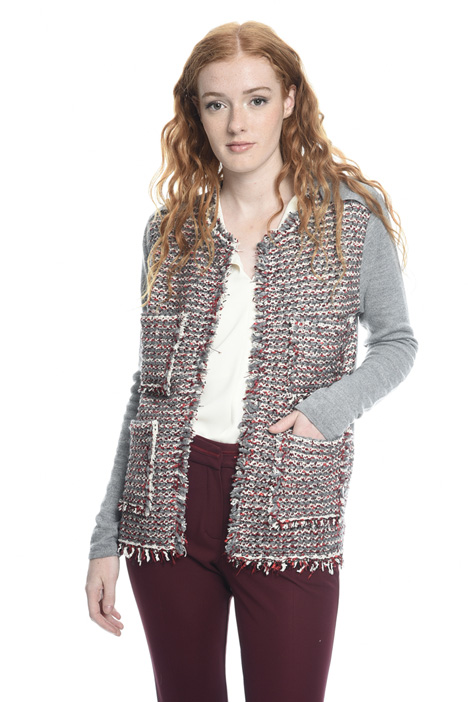 Open front wool cardigan Intrend