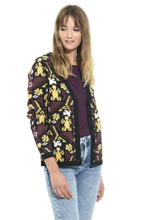 Oversized jacquard cardigan Intrend