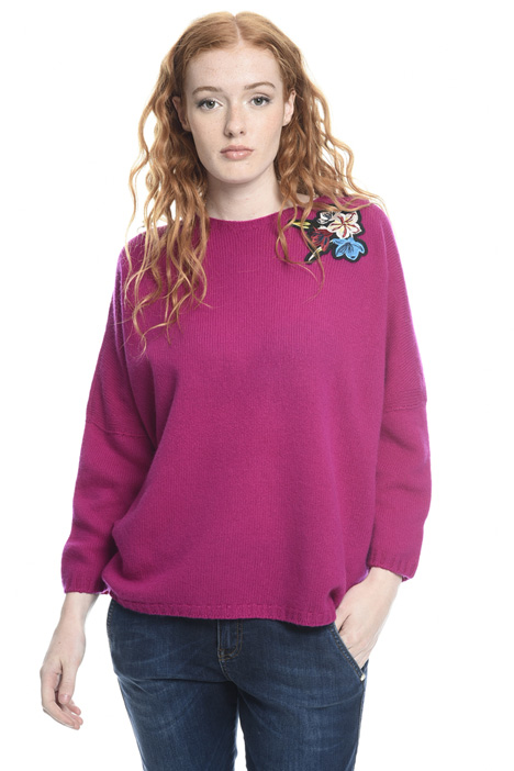 Embroidered oversized sweater Intrend