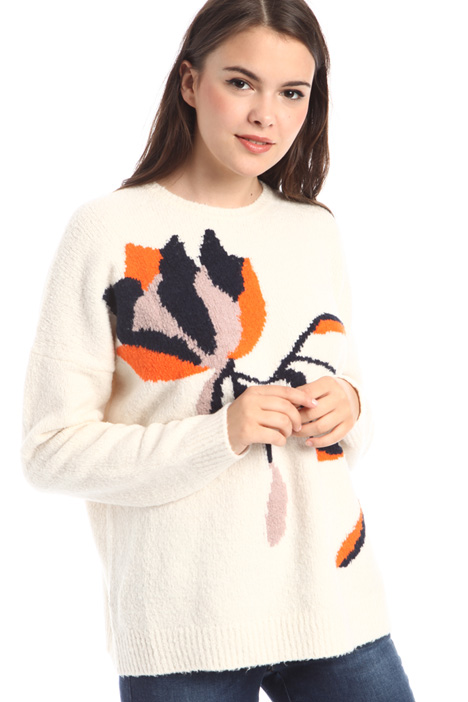 Sweater with front intarsia Intrend